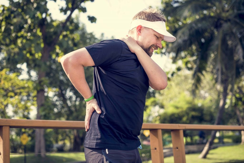 Man having back pain