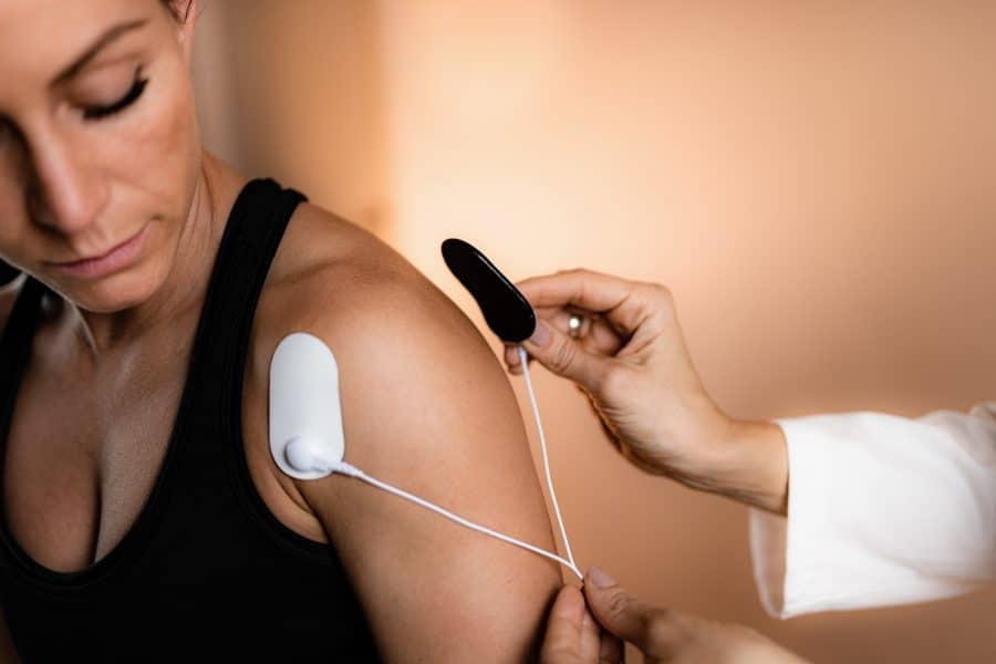 shoulder pain treatment with electrical stimulation